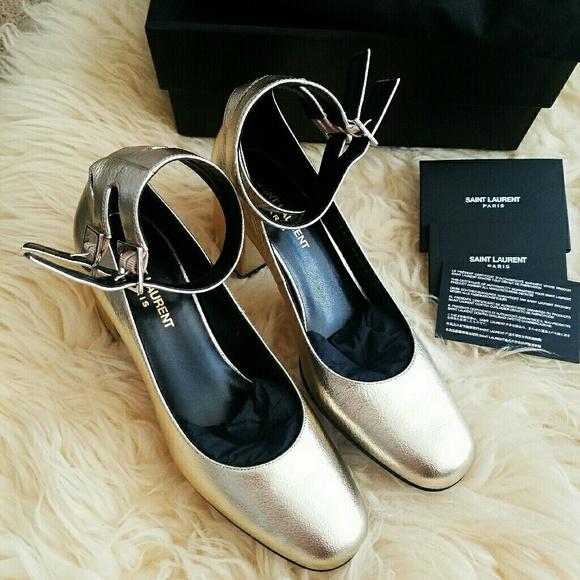 8a5c4e6ac6c Authentic ysl saint Laurent gold babies heels